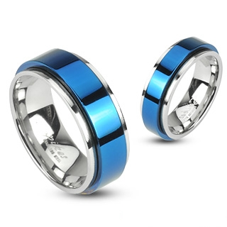 Bague couple acier Heavenly Way