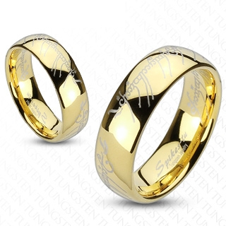 Bague couple tungstene Bright writings