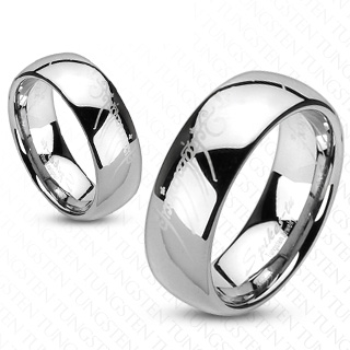Bague couple tungstene Silvery writings