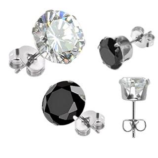 Boucles d'oreilles mixtes Silver Hexagon
