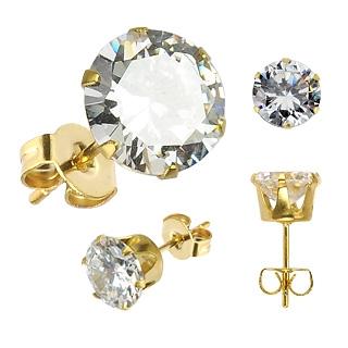 Boucles d'oreilles mixtes Gold Hexagon
