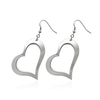 Boucles d'oreilles pendantes à coeur ouvert