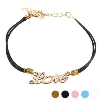 """Bracelet fantaisie en similicuir avec monogramme """"love"""""""