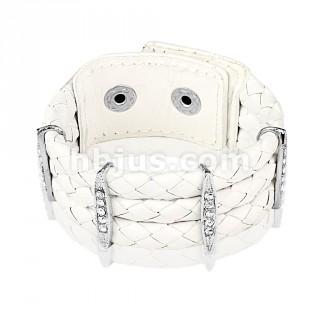 Bracelet femme or blanc pas cher