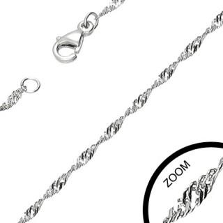 Chaine acier à très fines mailles spirales
