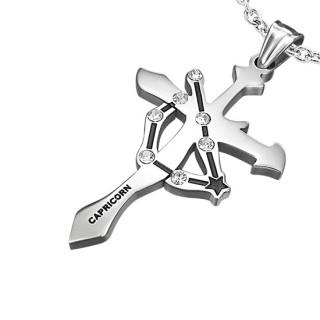 Pendentif Croix zodiaque Capricorne