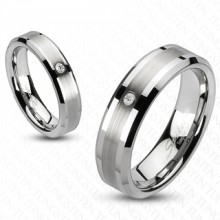 Bague couple tungstene Blaze