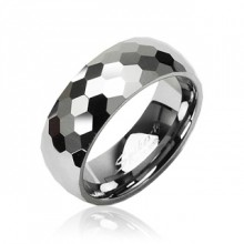Bague couple tungstene Disco