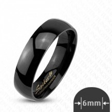 Bague couple tungstene Glossy black