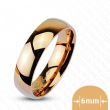Bague couple tungstene Glossy copper
