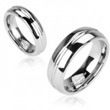 Bague couple tungstene Silver Line