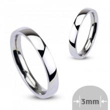 Bague femme acier anneau argenté très fin