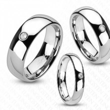 Bague couple tungstene Cyclops