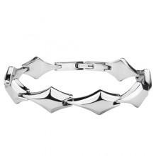 Bracelet acier à formes géométriques facettés