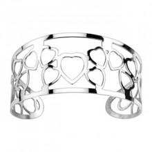 Bracelet acier modulable ajouré à coeurs