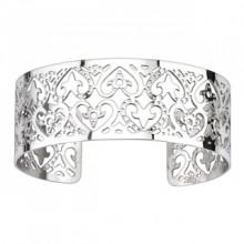 Bracelet acier modulable ajour� � coeurs style ornemental