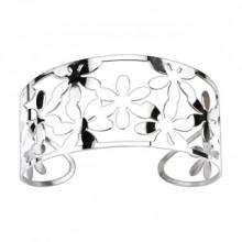 Bracelet acier modulable ajour� � fleurs