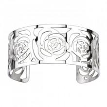 Bracelet acier modulable ajour� � roses d�ploy�es