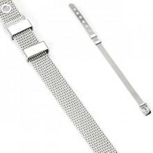 Bracelet acier style ceinture en mailles tissé
