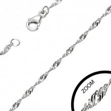 Chaine acier � tr�s fines mailles spirales